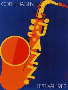 Per Arnoldi, Copenhagen Jazz Festival vintage poster from 1983 Jazz Poster, Blue Poster, Gig Poster, Festival Posters, Concert Posters, Theatre Posters, Music Posters, Jazz Concert, Montreux Jazz Festival