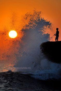Sunset in Bali - Taken at Tanah Lot Temple area.