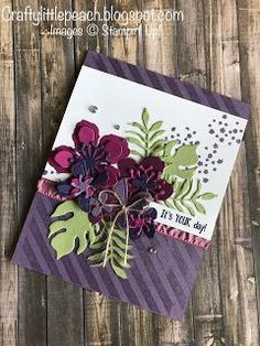 Stampin' Up! Watercolor Botanical Blooms Card