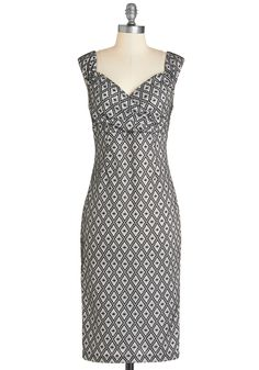 Lady Love Song Dress in Diamonds. Who wouldn't want to croon a ballad when they see you in this sultry frock?  #modcloth
