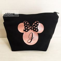 Minnie Mouse Make Up Pouch for gifts South Africa - Polkadot Box Blush Roses, Blush Pink, Mouse Make Up, Heat Press Vinyl, Makeup Pouch, Pink Makeup, Maid Of Honor, Mother Of The Bride, South Africa