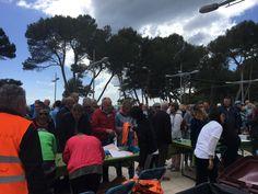 Het plein waar de start en de finish is in Paguera bij de vvv