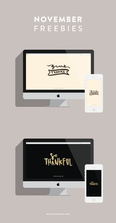 Thanksgiving Freebies - phone and desktop backgrounds for fall!