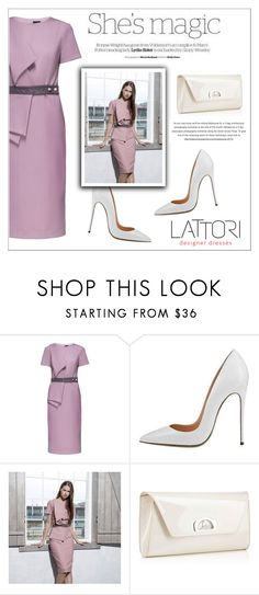 """LATTORI dress"" by water-polo ❤ liked on Polyvore featuring Lattori, Christian Louboutin, Nicole, polyvoreeditorial and lattori"