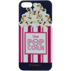 IPHORIA Pop the Corn Pink iphone 5/5s case (470 ARS) ❤ liked on Polyvore featuring accessories, tech accessories, phone cases, cases and iphone