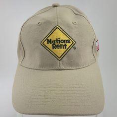 03044fa16e8 Nations Rent Beige Baseball Cap Dad Cap Adjustable Back Cotton