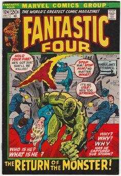 Fantastic Four #124 VF/NM, John Buscema cover art. $33.50