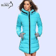 暖かい冬ジャケット2016女性のファッションダウン綿パーカーカジュアルフード付きロングコート肥厚プラスサイズパーカージッパー綿スリム