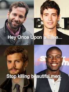 pinnochio... prince phillip... sheriff graham... lancelot... Seriously! There needs to be one single, attractive guy in the show!