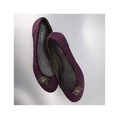 Simply Vera by Vera Wang Demitazza purple satin flats-- one of the great shoe purchases of my life! If I could find another pair of these, I'd buy them in a heartbeat.