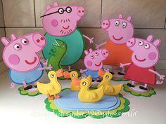 Peppa Pig | elisangela alexandre | Flickr Cumple Peppa Pig, Peppa Pig Birthday Cake, Pig Party, Toy Craft, 4th Birthday Parties, Birthday Decorations, Chloe, Ideas, Diy And Crafts