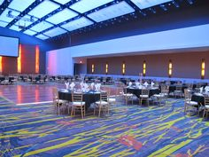 Wedding Set up in the ballroom of Community Choice Credit Union Convention Center