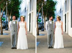 Bride & Groom #downtownwedding #sandiego #urbanwedding