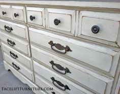 Antiqued White Refinished Furniture