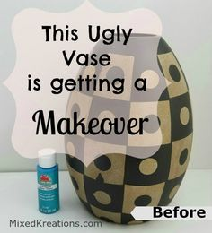 Home Decor Quotes How to give an ugly vase a makeover. Turn an ugly vase into a beauty with a little paint. Decor Quotes How to give an ugly vase a makeover. Turn an ugly vase into a beauty with a little paint. Easy Home Decor, Handmade Home Decor, Handmade Crafts, Diy Projects On A Budget, Diy Craft Projects, Upcycling Projects, Spindle Crafts, Home Decor Quotes, Diy Wood Signs
