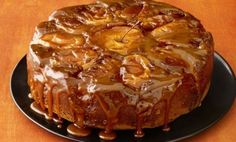 See how to make Food Network Magazine's Caramel Apple Cake recipe as a festive fall centerpiece for your Thanksgiving dessert spread. Apple Cake Recipes, Apple Desserts, Dessert Recipes, Pear Recipes, Dinner Recipes, Food Cakes, Food Network Recipes, Cooking Recipes, Easy Cooking