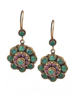 Emerald Floret Earrings, LOVE!!!