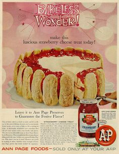 Strawberry Cheese Treat Published in Life magazine, April 14, 1961