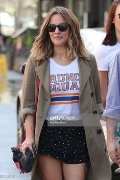 News Photo : Caroline Flack seen walking through Leicester...