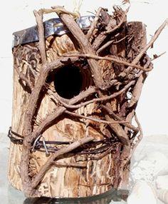 Hollow Log Bird Houses