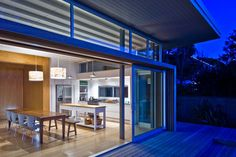 The modern and striking beach house with stunning views, the house is has a very simple form de...
