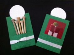 This gift card holder would be perfect for your Golf enthusiast! This photo shows both the front and back of the gift card holder. This listing is for one holder. Golf Party, Gift Cards Money, Craft Show Ideas, Golf Gifts, Scrapbook Cards, Scrapbooking, Craft Sale, Masculine Cards, Cool Cards