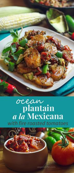 **Giveaway on the blog**  Recipe - Ocean Plantain a la Mexicana with Fire Roasted Tomatoes   Vegan Plantain Recipe   Watch the video - https://youtu.be/pkZDbXRH-Xc