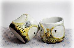 'big eye owl' ceramic mug by Coconut Studio Pottery