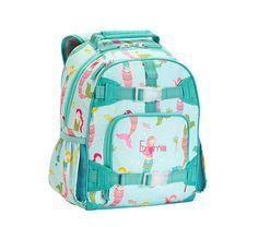 Mackenzie Aqua Mermaids Backpacks | Pottery Barn Kids