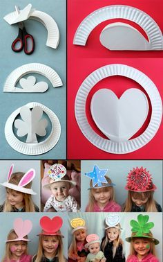 Ideas diademas/sombreros con platos.