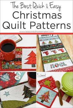 A handmade Christmas quilt is will be treasured for generations. The key is to use a quick and easy Christmas quilt pattern.