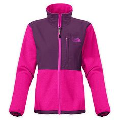 North Face Denali Jacket Womens ANLP-Y1T Fuchsia Pink Fleece Zip Jacket Size M
