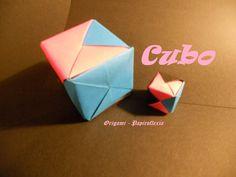 Origami - Papiroflexia. Tutorial: Cubo 3D, Facil.