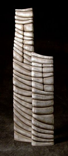 ***** Wood sculptor Thierry Marteon was born at the foot of the Swiss Alps, in Grenoble, France. Sculptures Céramiques, Art Sculpture, Abstract Sculpture, Glass Ceramic, Ceramic Art, Thierry Martenon, Totems, Ceramic Techniques, Wood Stone