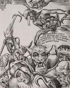 Alberto Martini - Illustrations from Dante's Divine Comedy, 1937