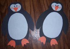Penguin decorations or penguin art project for kids.