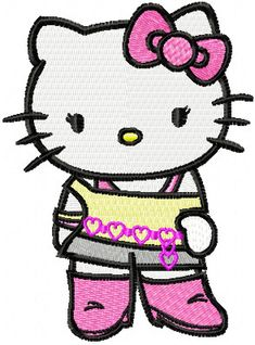 hello kitty embroidery designs | Hello Kitty forever young machine embroidery design