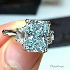 """By Tom Burstein """"A color so beautiful, it can only be found in nature. A carat fancy intense greenish-blue diamond, on view June 6 I Love Jewelry, Gold Jewelry, Jewelry Accessories, Fine Jewelry, Unique Jewelry, Blue Diamond Jewelry, Jewlery, Pandora Jewelry, Green Diamond"""
