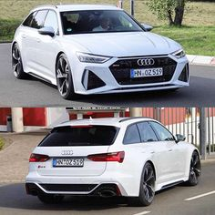 Forget Photoshop - new 2020 in white Note the black & silver trim combo . Cant wait for the color trim combos How about or or - - BiTurbo - ---- oooo - what else ---- . Audi A6 Rs, Audi A6 Avant, Audi Suv, Audi Quattro, Audi Sport, Sport Cars, Audi Rs6 Wagon, Volvo, Peugeot