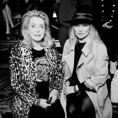 Catherine Deneuve & Kate Moss at #SaintLaurent FW1718 by #AnthonyVaccarello #pfw2017  @SaskiaLawaks  via HARPER'S BAZAAR THAILAND MAGAZINE OFFICIAL INSTAGRAM - Fashion Campaigns  Haute Couture  Advertising  Editorial Photography  Magazine Cover Designs  Supermodels  Runway Models