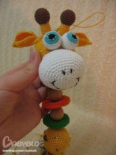 Вяжем крючком Развивающая игрушка Жираф мастер класс