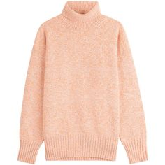 Vanessa Bruno Merino Wool Pullover (4 830 ZAR) ❤ liked on Polyvore featuring tops, sweaters, multicolor, red turtleneck, red sweater, textured sweater, multi color sweater and polo neck sweater