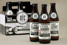 """(James J. Miller Design was tasked to design the packaging for The OTC Brewery. The OTC, or """"Off the Clock"""" Brewery is an independent craft-beer brewing company to be located in Bellingham, WA."""