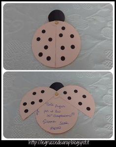 Biglietto di auguri a forma di coccinella