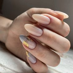 Chic Nails, Stylish Nails, Trendy Nails, Neutral Nails, Nude Nails, Nail Manicure, Almond Acrylic Nails, Cute Acrylic Nails, Nails Today