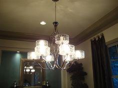 Silver Oak Dining Room Chandelier