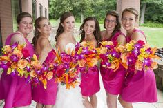Pink and Orange wedding colors!