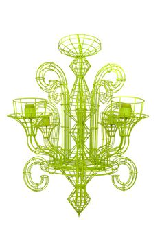 Lime green wire chandelier - ESQUELET WIRE CHANDELIER - SMALL
