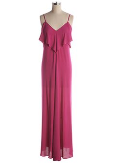 Beautiful flowing fuschia maxi dress with criss cross back. Adjustable shoulder straps. 70% cotton, 30% polyester Not stretchy Not lined Hand wash cold; hang dry Indie, Retro, Party, Vintage, Plus Size, Convertible, Cocktail Dresses in Canada Fuchsia Fever Dress -
