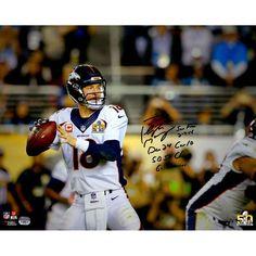 "Peyton Manning Denver Broncos Fanatics Authentic Autographed 16"" x 20"" Super Bowl 50 Champions Action Photograph with Super Bowl 50 Stat Inscriptions - Limited Edition of 18 - $1799.99"